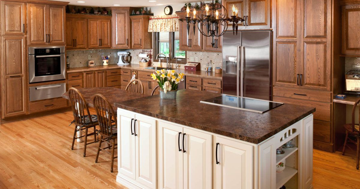 Stained kitchen cabinets in Cognac by Showplace Cabinetry ...