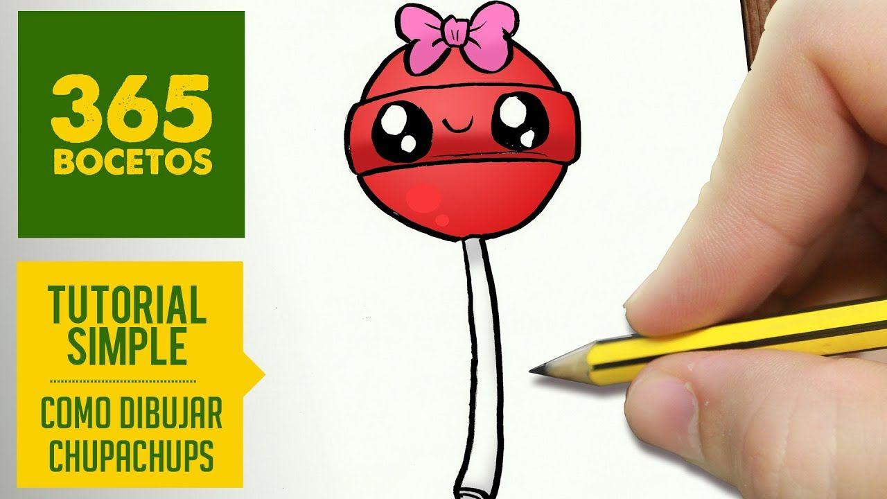 Como Dibujar Chupachups Kawaii Paso A Paso Dibujos Kawaii