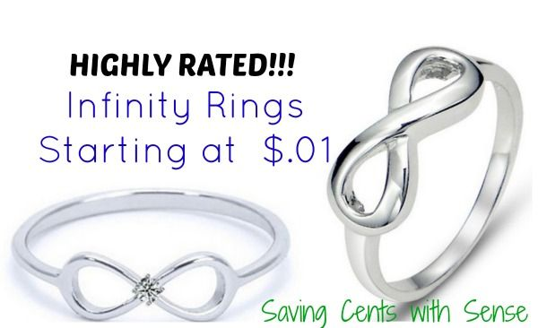 Sterling Silver Infinity Rings $.01 - HIGHLY RATED - Saving Cents With Sense #holiday #gifts