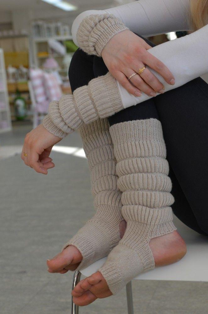 Long full length chevron patterned womens legwarmers Gift for dancer Leg warmers for ballet and dance