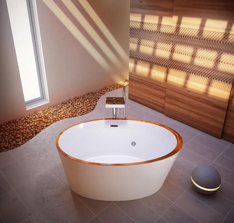 The Charism Therapeutic Tub by Bain Ultra looks charming in small ...