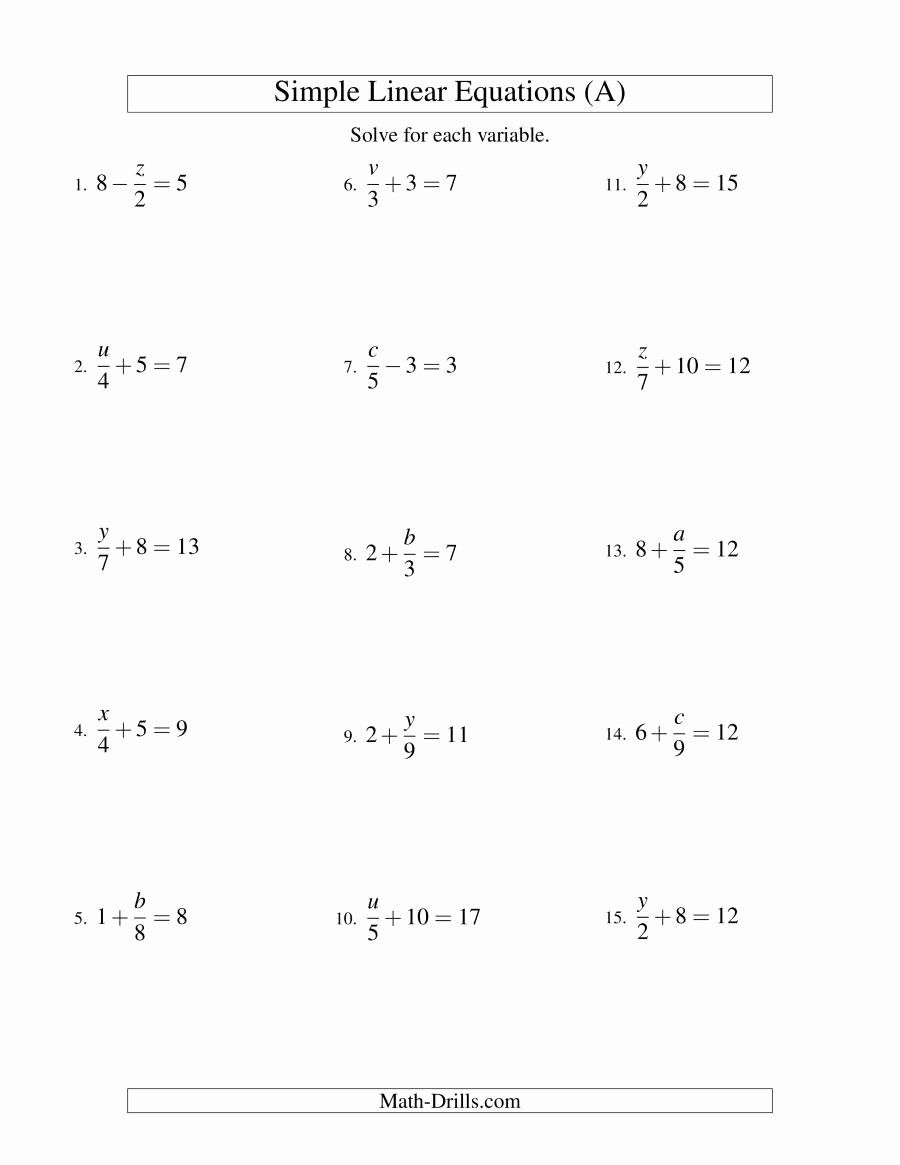 Solving For Y Worksheet Awesome Solving Linear Equations Form X A