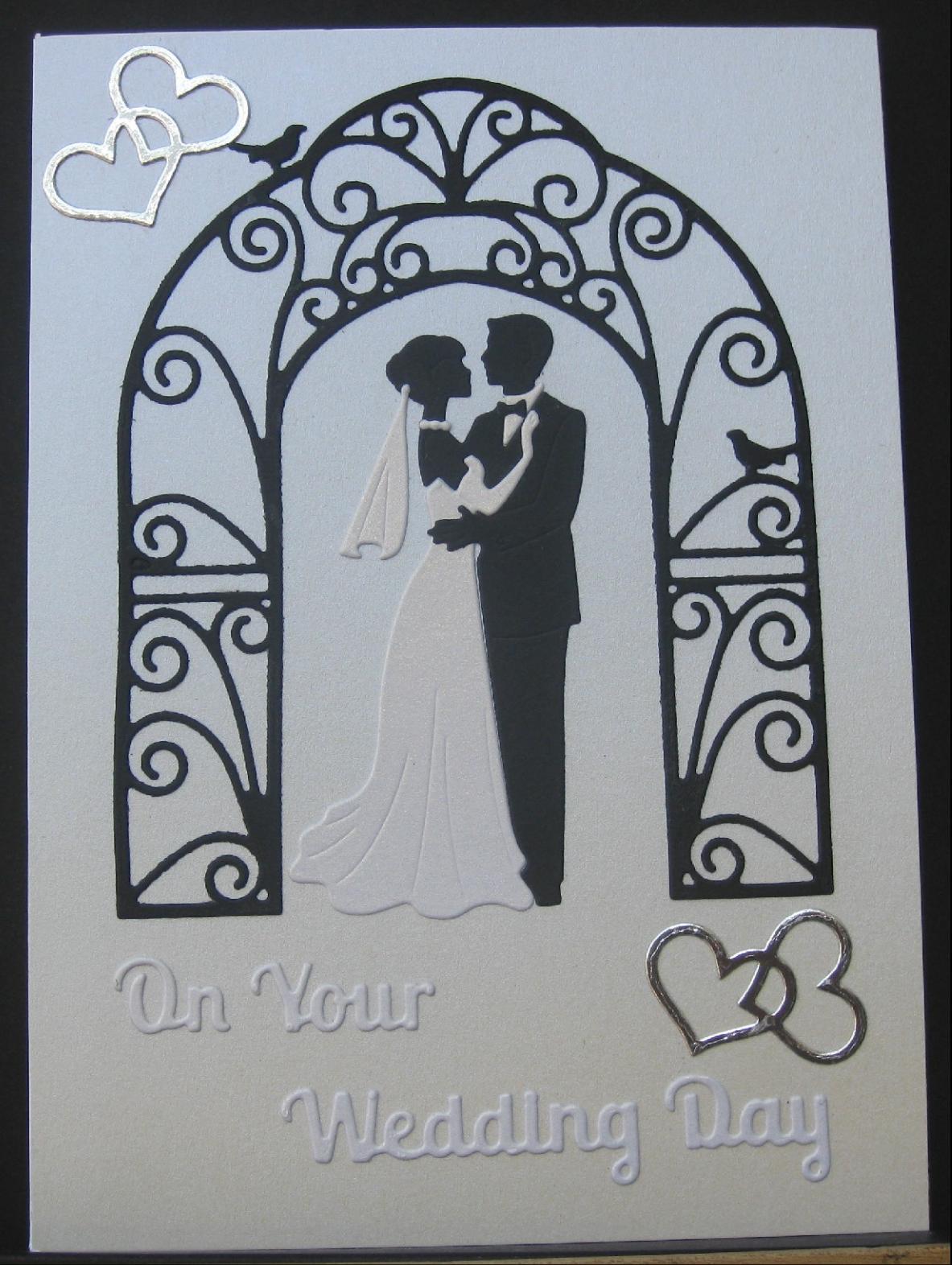 Purplesquares beautiful handmade wedding card on pearlised purplesquares beautiful handmade wedding card on pearlised background with silver hearts kristyandbryce Images