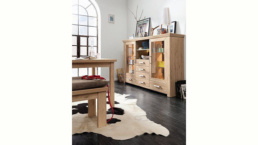 Set One By Musterring Highboard York Typ 56 San Remo Sand Breite