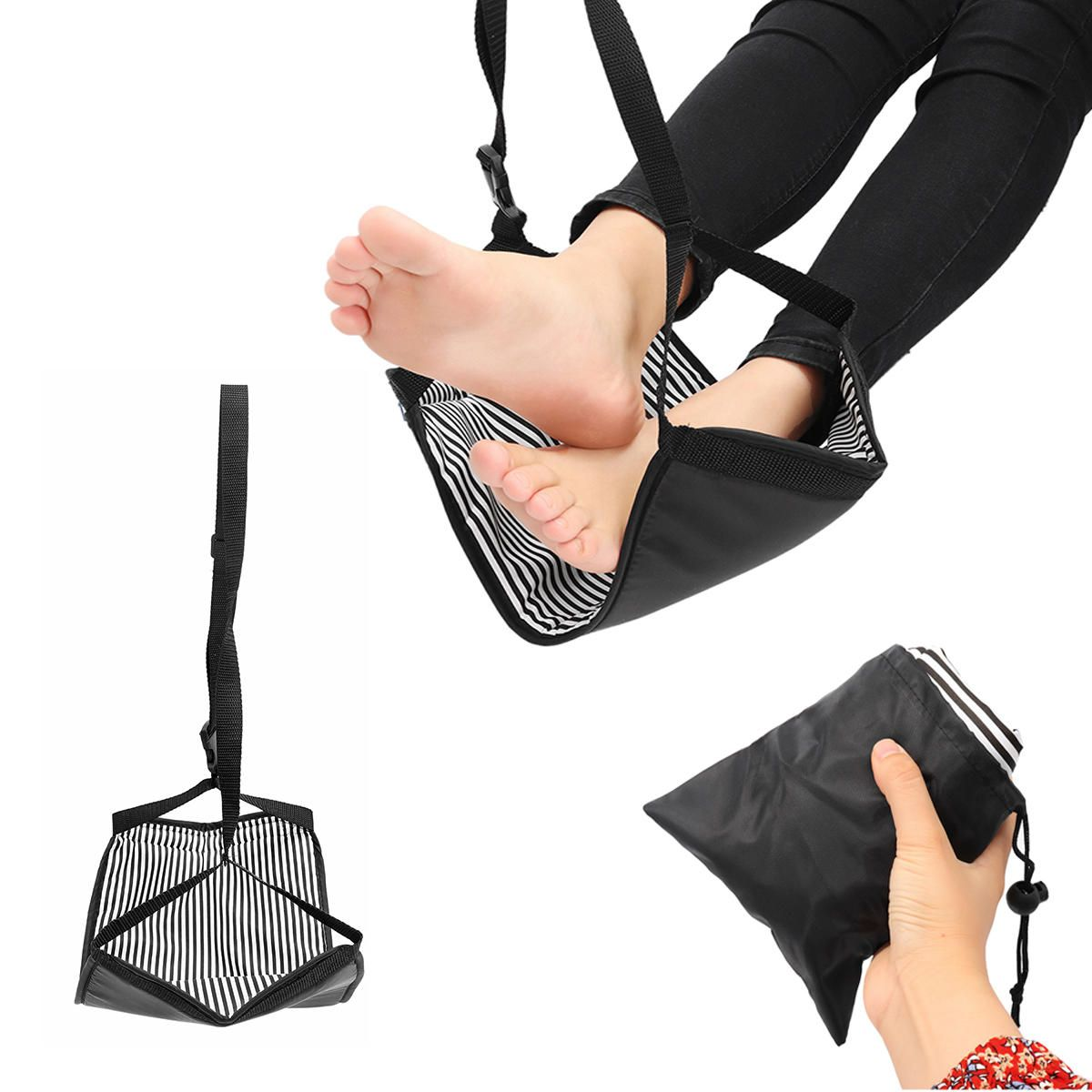 Portable Travel Cotton Knitted Footrest Flight Carryon