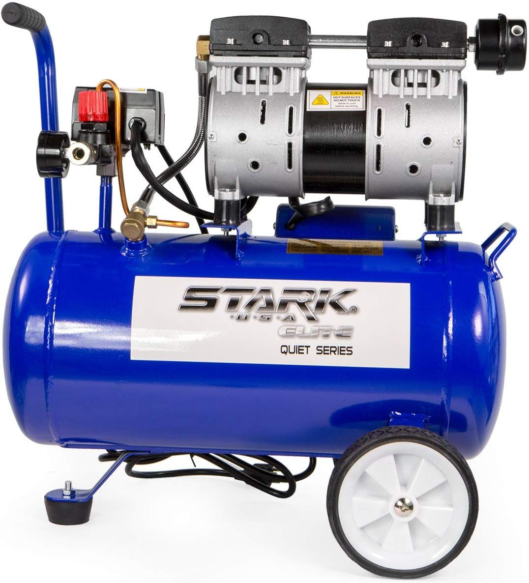 STKUSA Ultra Quiet OilFree 1.0 HP Air Compressor w 6.3