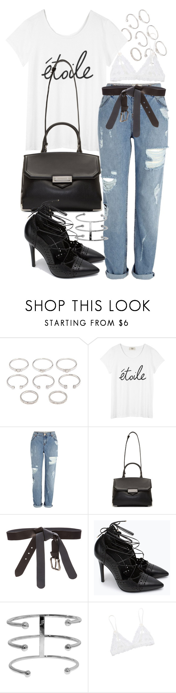 """""""Untitled #19151"""" by florencia95 ❤ liked on Polyvore featuring Forever 21, River Island, Alexander Wang, Maison Margiela, Zara and Hanky Panky"""