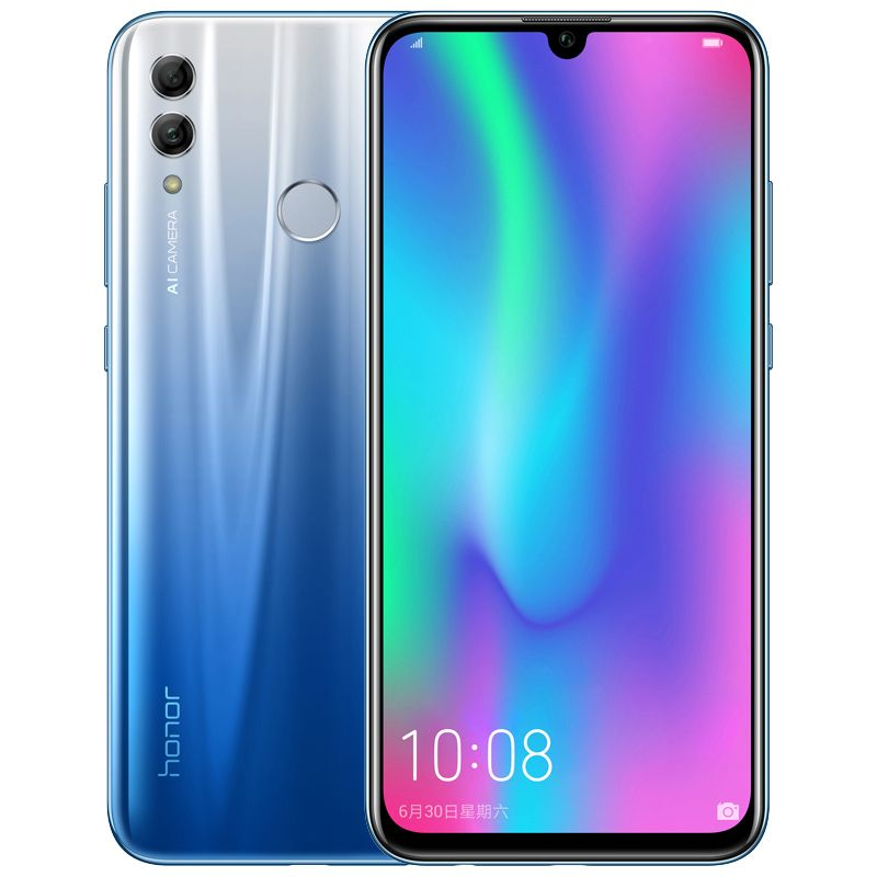 Honor 10 Lite 4g Mobile Phone Android 9 0 6 21 Fhd 2340x1080 Dual Font Rear 24mp Ai Camera Magic Blue 6 64g Phablet Smartphone Cell Phones For Sale