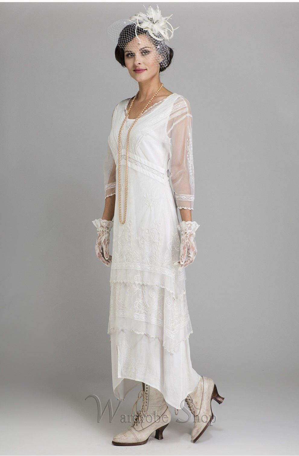 Vintage Titanic Tea Party Dress in Ivory by Nataya in 2020