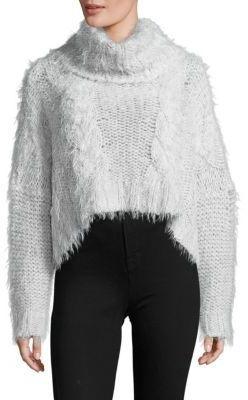 Free People Isle of Sky Cropped Turtleneck Sweater