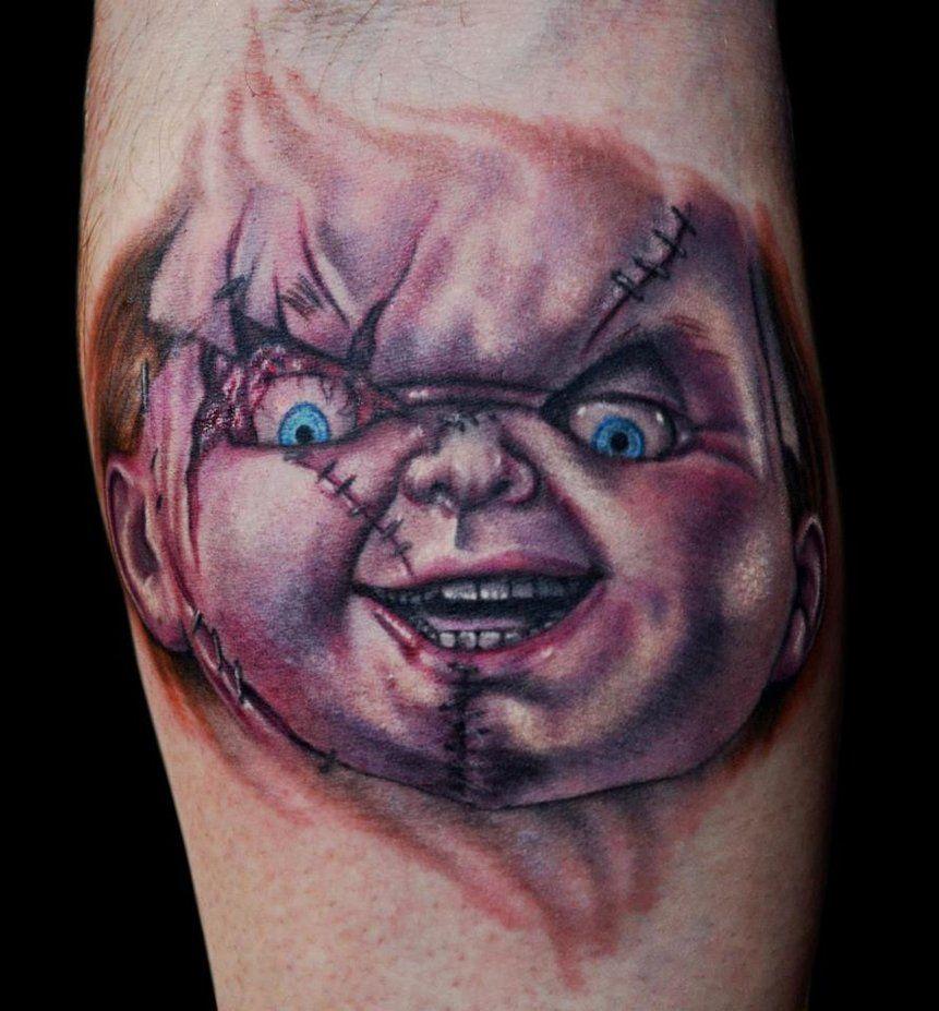 efd0739eb Chucky Tattoo by Val McBain by FinlayFish   Chucky Tattoos   Chucky ...