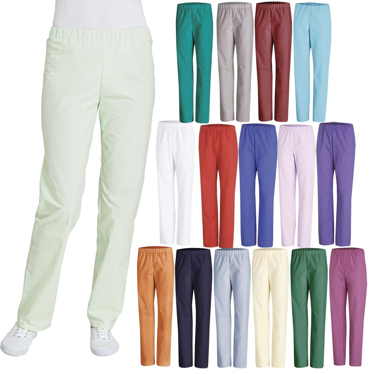 Diese Leiber OP Hosen  sind Industriewäsche geeignet und in