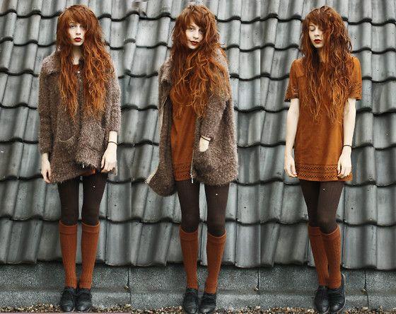 A little orange (by Nadia Esra) http://lookbook.nu/look/4425335-a-little-orange I Love the hair