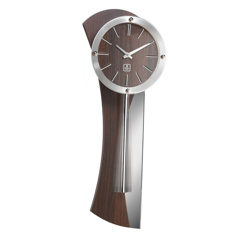 Wooden Brown Wall Clock Contemporary Decorative Modern Wood Kitchen Office Large Brown Wall Clocks Wall Clock Mirror Wall Clock