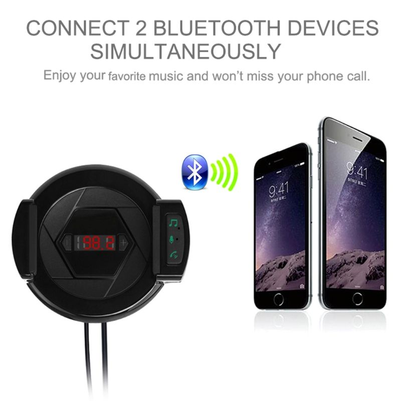 Handsfree Calling Bluetooth Fm Transmitter Music Player Audio