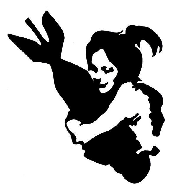 girl with bomb stencil   Disc Golf Stencil Ideas   Pinterest