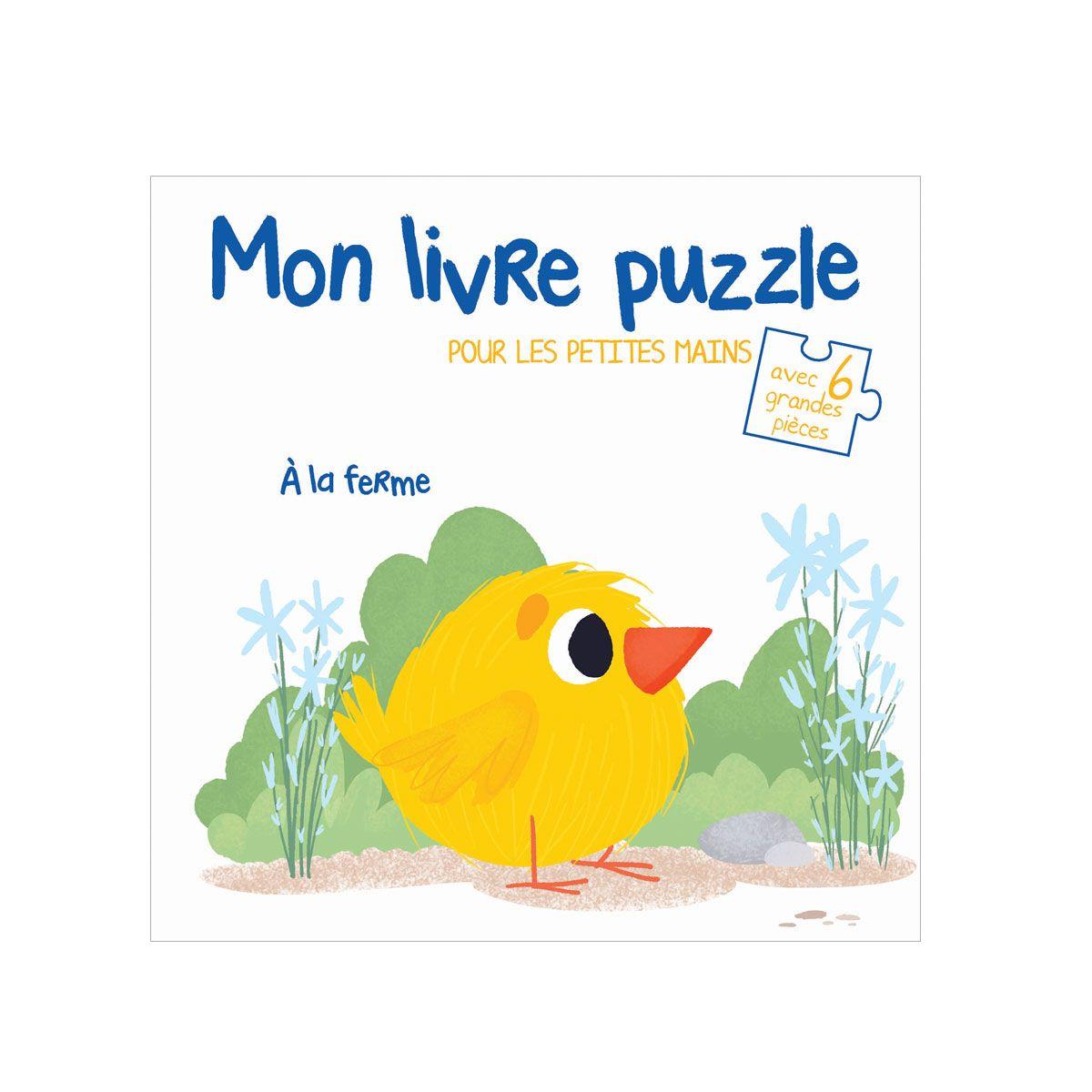 Livre Mon Livre Puzzle A La Ferme Pour Enfant De 18 Mois A 3 Ans Oxybul Eveil Et Jeux Livre Puzzle Livre Anime Livre