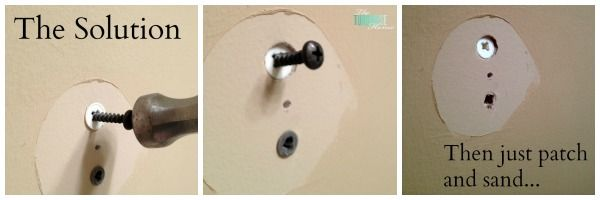 Quick Tip How To Get Rid Of Unwanted Dry Wall Anchors Wall Anchors Fill Nail Holes Wall
