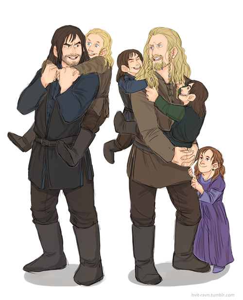 Fili and Kili and each others kids   Awe :) Too bad they die