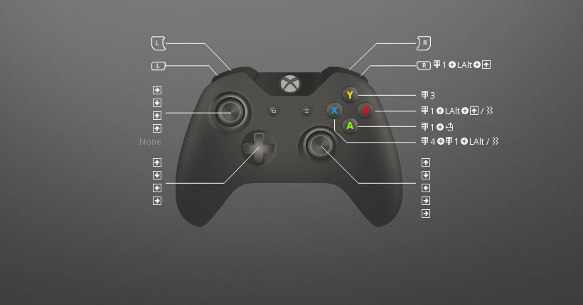 Try These Custom Virtua Tennis 4 Pc Controls They Re Handy And Great Or Grab Rewasd And Come Up With Your Own Virtu Xbox One Controller Used Xbox One Control
