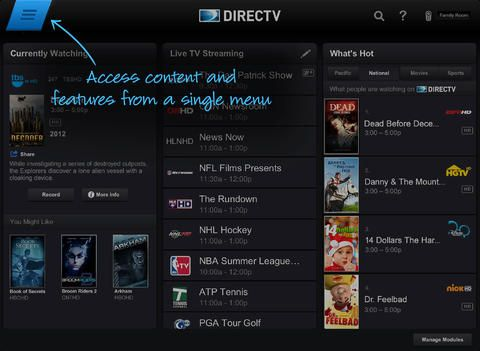 Directv Geniego Menu Ipad Directv Streaming Screenshots