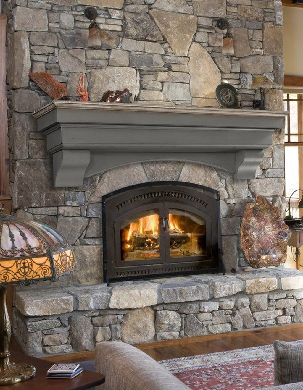 43 Genius Fireplace Makeover Design Ideas Fireplace shelves