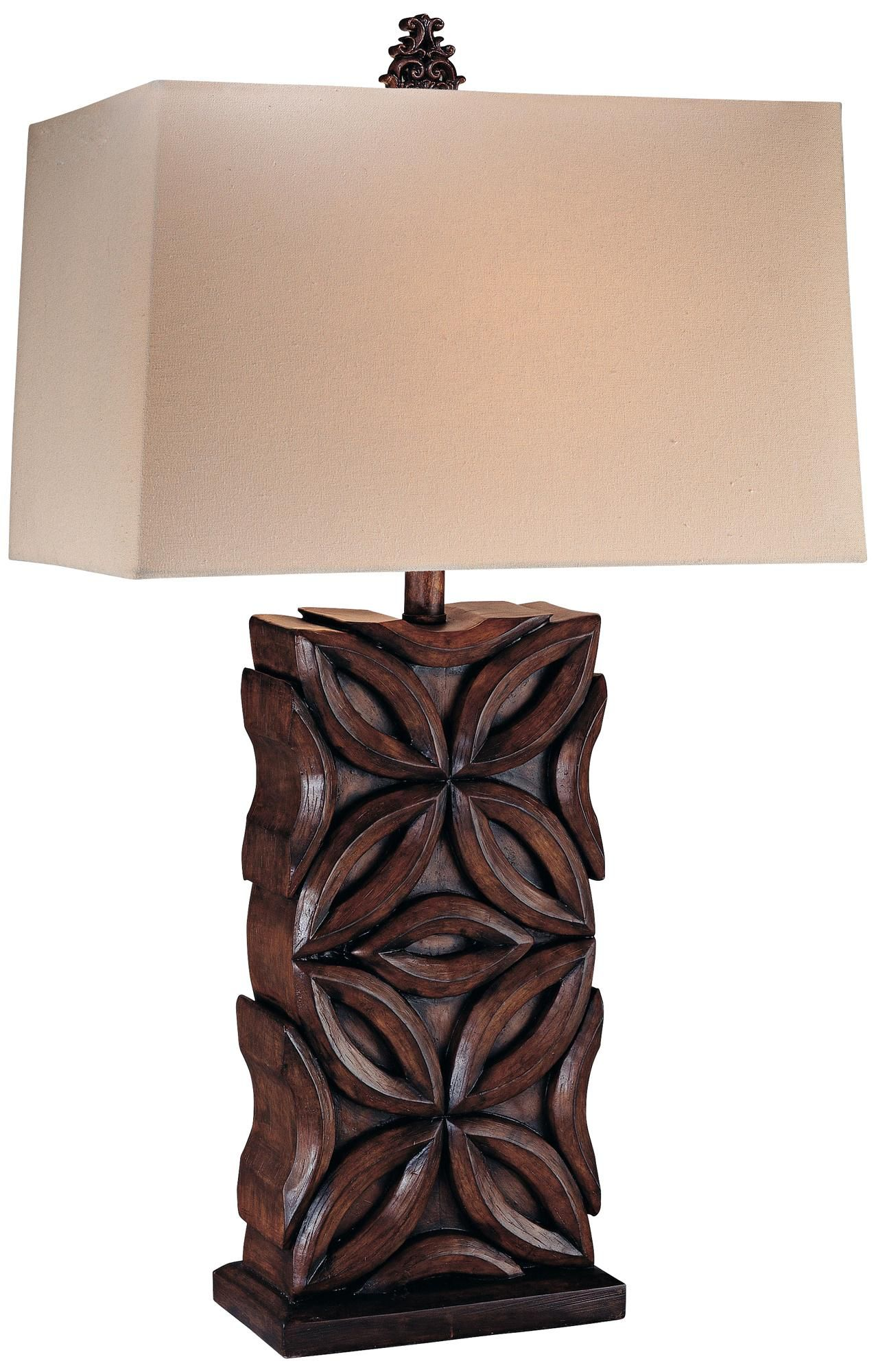 Ambience cherry carved faux wood table lamp home ideas ambience cherry carved faux wood table lamp aloadofball Image collections