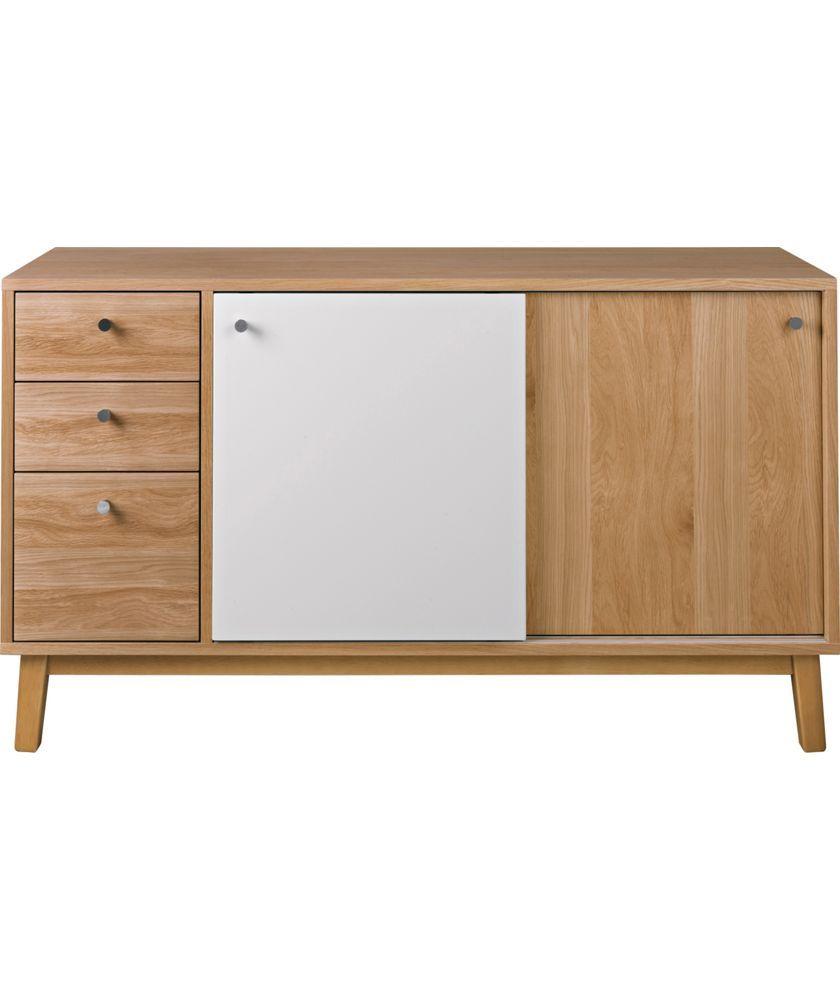 Buy Hygena Merrick 2 Door 3 Drawer Sideboard Oak Effect At Argos Co Uk Your Online Shop For Sideboards And Chest Of Drawers Oak Sideboard Sideboard Furniture Retro Sideboard