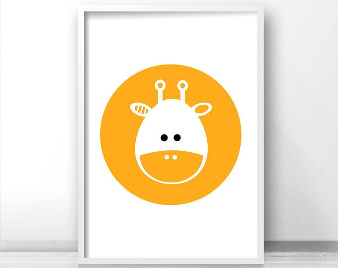 Baby Animal Nursery Art, Giraffe Nursery Print, Kids Art Print ...