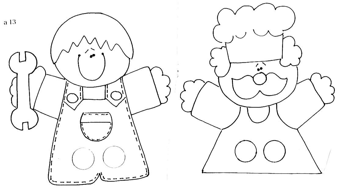 Profesiones Dedos Finger Puppet Patterns Finger Puppets Felt Finger Puppets