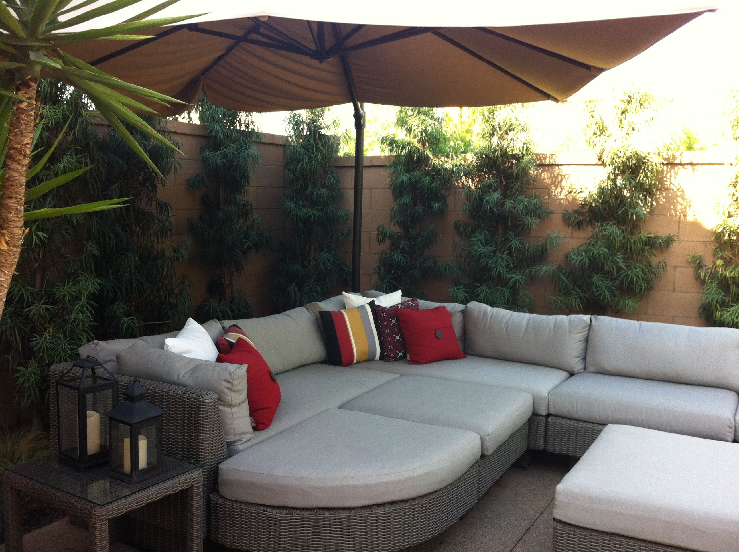 Great outdoor furniture for a big gathering!