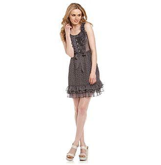Product: Black Rainn™ Black and Purple Ruffle-Front Dress for sale @ Cali Love Retailer on Ebay