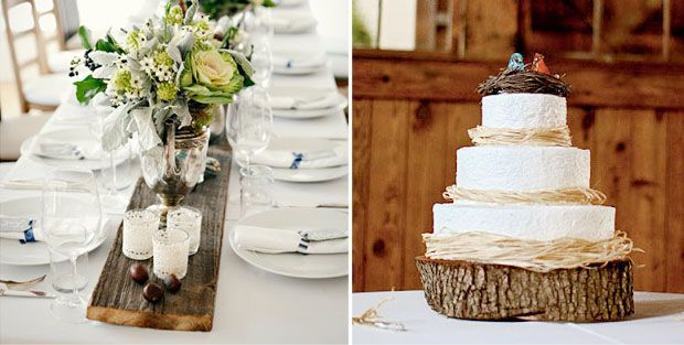 wooden country feel table design for wedding - Google Search