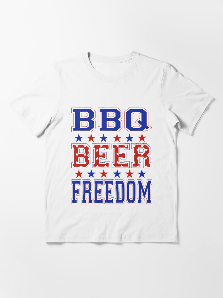 Bbq Beer Freedom T Shirt By Wauuul Redbubble T Shirt Shirts Mens Tshirts