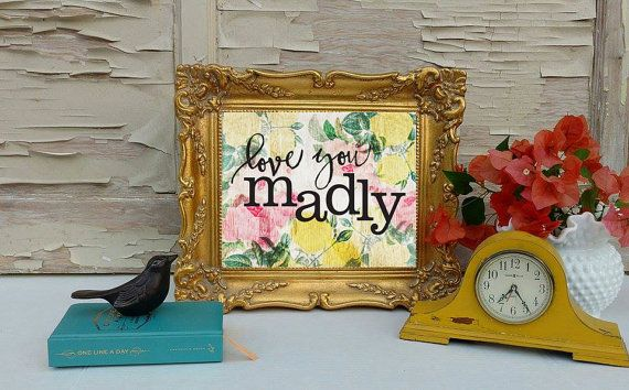 Love You Madly Art Print Wall Art Bathroom By Foofoolalachild Colorful Art Art Prints Bath Art