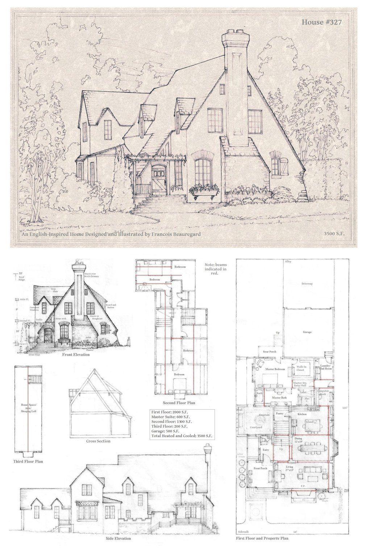 House 327 A By Built4ever On Deviantart Vintage House Plans House Plans Storybook Cottage