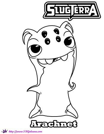 find this pin and more on emer bajoterra arachnet slug coloring page from slugterra
