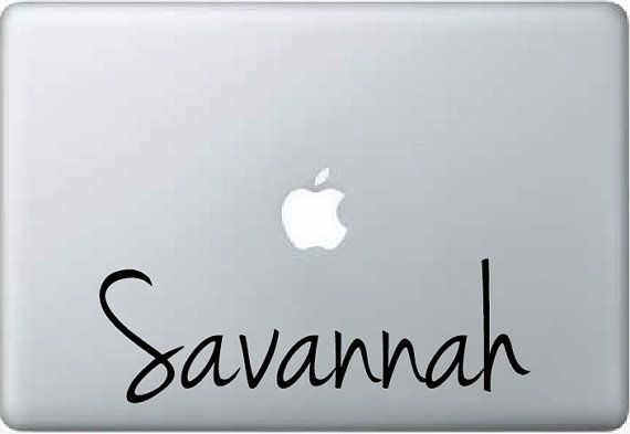 Ipad mac book laptop custom vinyl name decal sticker girl case cover choose size and color 1170