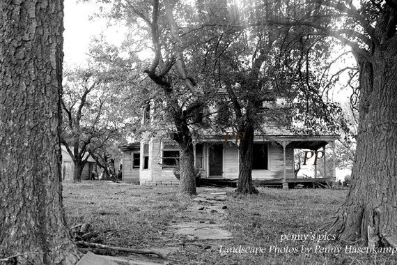 Old Kansas Farmhouse Black And White Photo By Pennysprizedpicks 3000