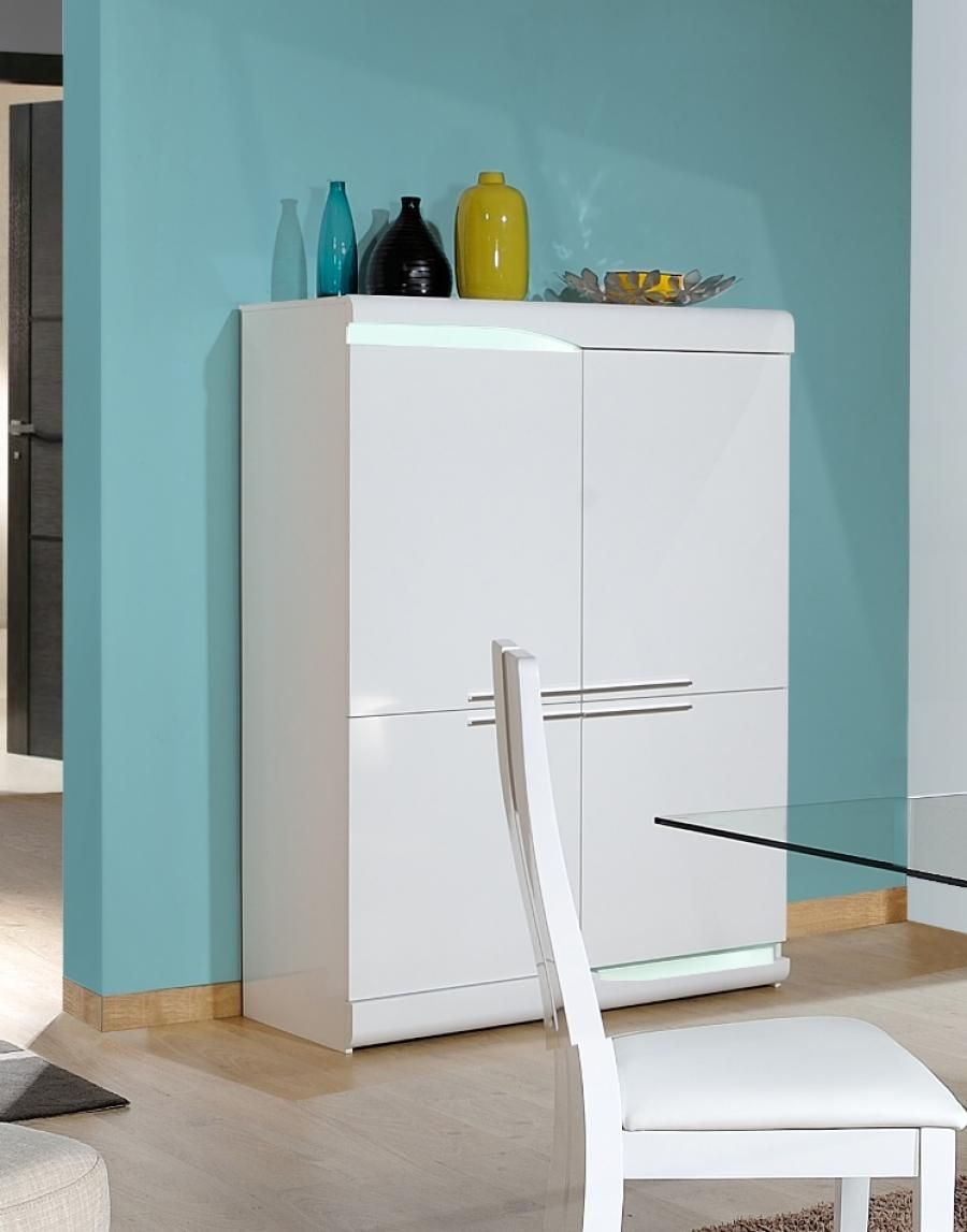 White High Gloss Storage Cabinet
