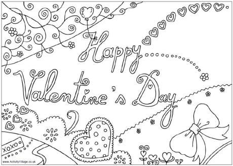 free valentine\'s day adult coloring book pages free printable ...