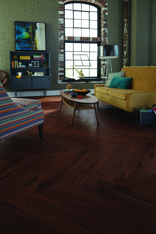 """NovaFloor® Hartsfield™ Gunstock Oak 4"""" x 36"""" planks in a"""