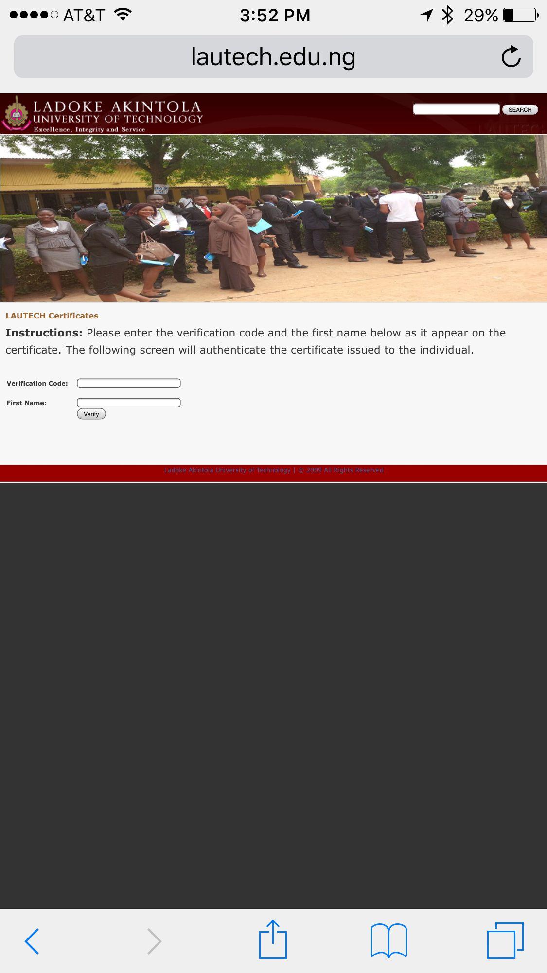 Verification For Ladoke Akintola University Of Technology