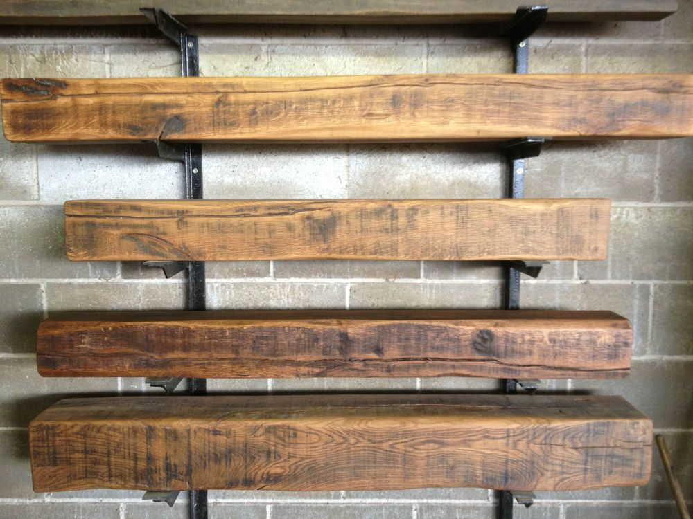 Details about 6 x 6 Air dried Solid oak beam mantel piece ...