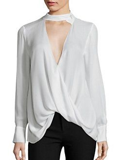 862c65cde52f54 Derek Lam 10 Crosby - Draped Silk Blouse