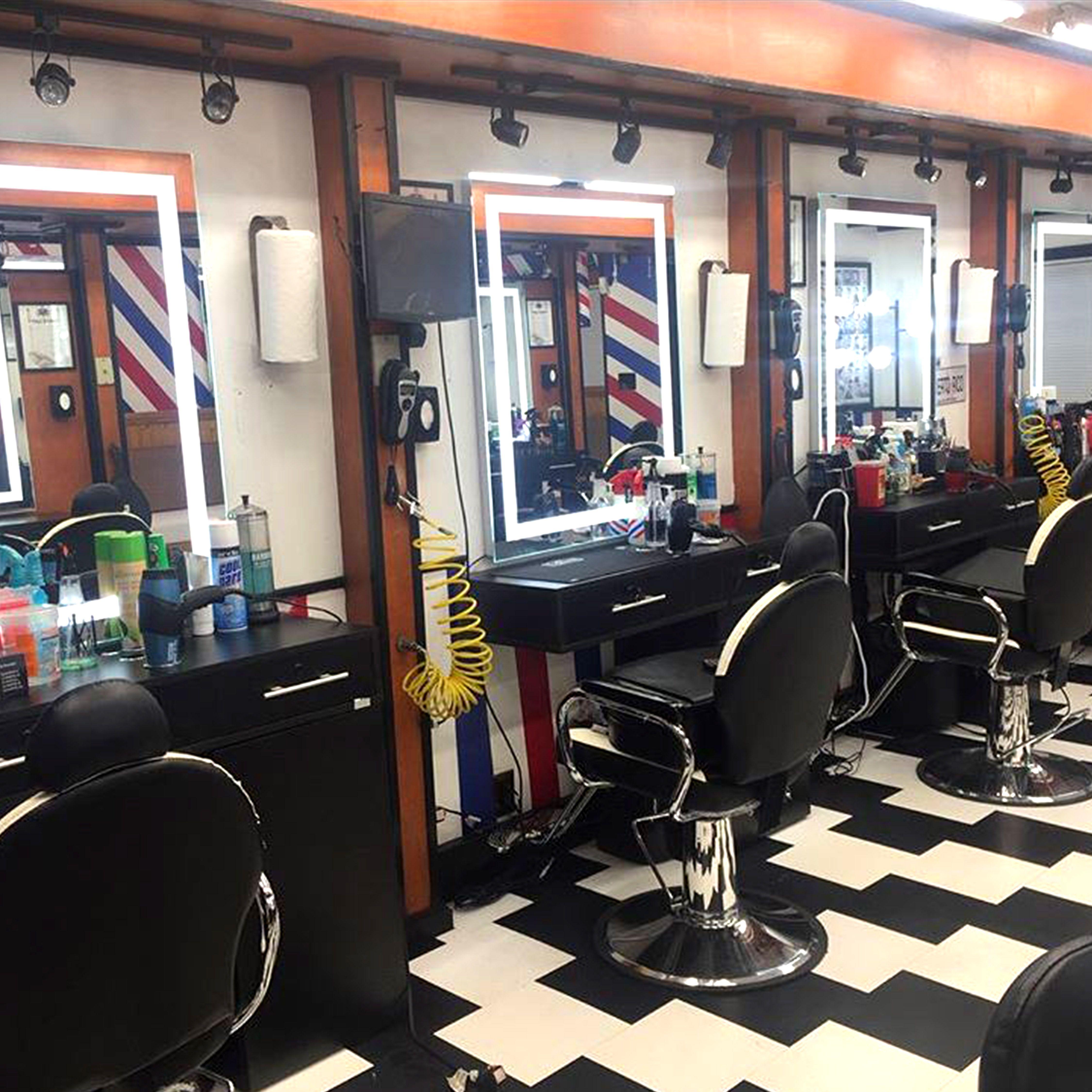 Led Mirror Keller Barber Shop Interior Barber Shop Decor Barbershop Design