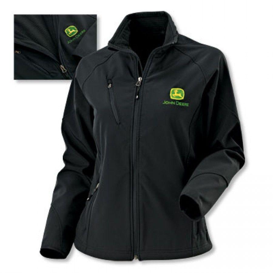 412c8f689 John Deere Ladies Textured Soft Shell Jacket | RunGreen.com | John ...