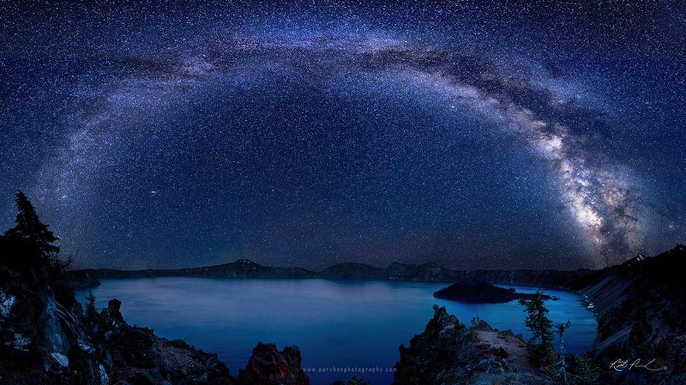 ночное небо рика парчена