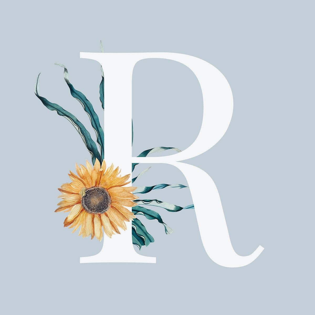 Download Premium Illustration Of Summer Alphabet R Psd Floral Typography Floral Typography Vector Free How To Draw Hands