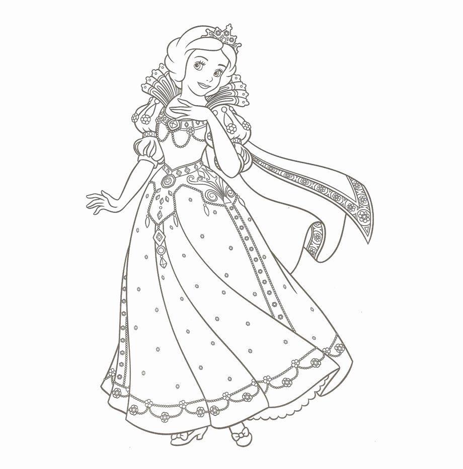 Tranh tô màu công chúa bạch tuyết dễ thương, xinh đẹp   Trang tô màu, Sách tô  màu, Bạch tuyết